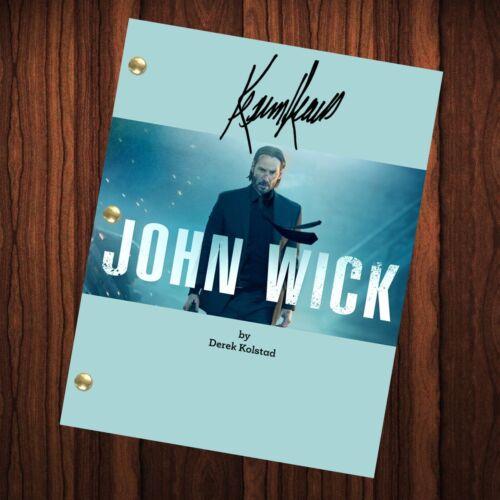John Wick Movie Signed Autographed Script Full Screenplay Full Script Reprint