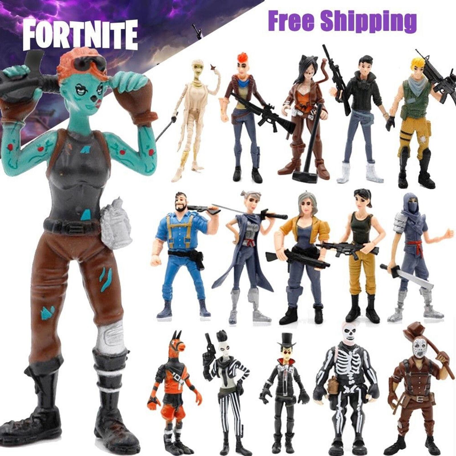 Xmas Gift 16 Pcs Fortnite Action Figures Skull Trooper Ninja