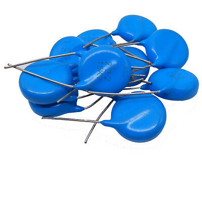 Us Stock 10pcs Ceramic Disc Capacitors 2200pf 1nf 0.0022uf 222 15000v 15kv