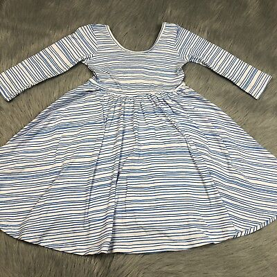 Alice And Ames Blue White Seaport Stripe Ballet Dress Girls 4T Play Condition