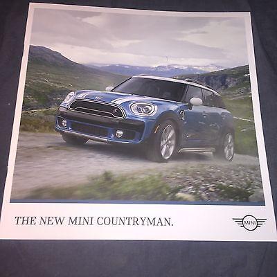 2017 BMW Mini Cooper S Countryman USA Market Color Brochure Catalog Prospekt
