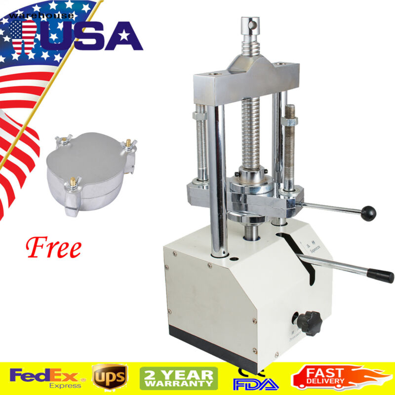 NEW Dental Dentist Lab Hydraulic Press Flask Presser Pressure 2T+ Denture Flask