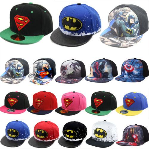 Kinder Jungen Superman Batman Spider-Man Snapback Cap Baseball Kappe Mütze Hat