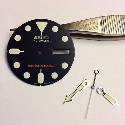Seiko SKX009 dial and hand set