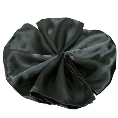 Package of 5 Satin Napkins - Black  ~Wedding Party Holiday Dinner Catering~ (Black Napkins)
