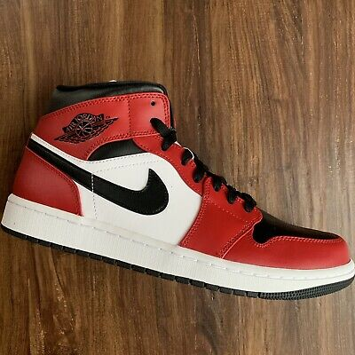 Nike Air Jordan 1 Mid Chicago Black Toe Bred 554725-069 Sizes 10-12 NEW