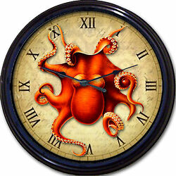 Steampunk Octopus Wall Clock Victorian Goth Gothic Vintage Sea Creature New 10