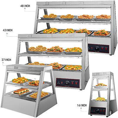 Commercial Food Warmer Pizza Warmer Display Case W Tilt-up Doors Pastry Warmer