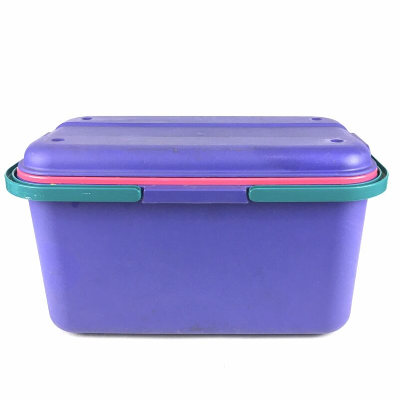 Eagle Craftstor Craft Sewing Storage Tote Bin Organizer with Insert Tray Purple