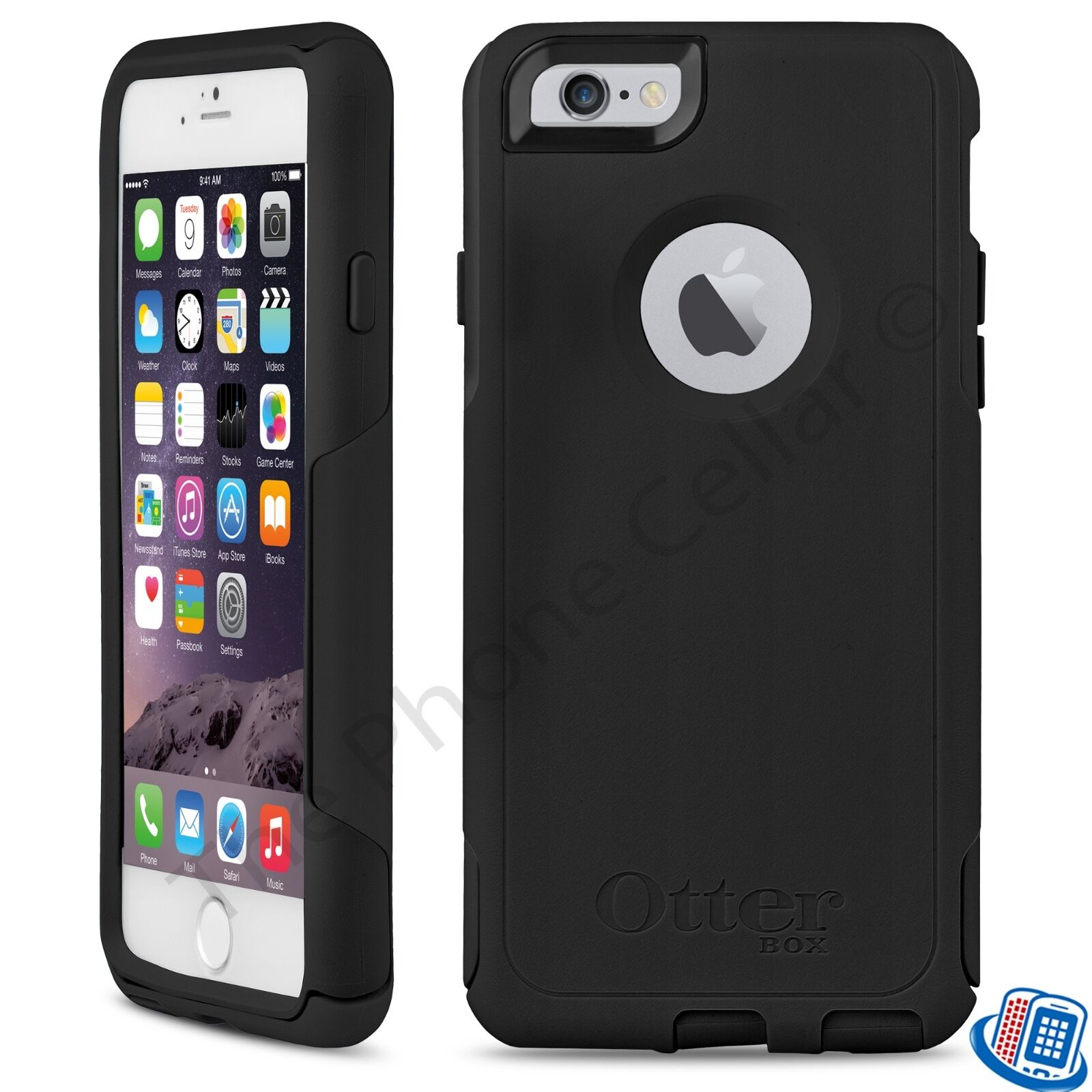black iphone 6s new oem otterbox commuter series black shell for 10278