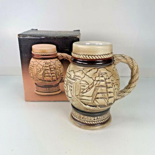 "1982 Avon Tall Ships Ceramic 4.5"" Stein   Made In Brazil"