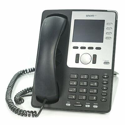 Snom 821 Sip Voip Black 12 Line Color Display Gigabit Phone And Handset Only