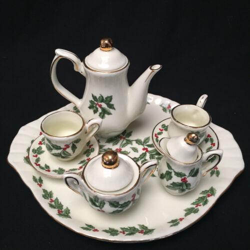 Vintage Minature Christmas Tea Set Formalities By Baum Bros