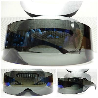Alien Roboter Kostüm Prty Club Rabe Cool Zyklop Futuristisch Schild Sonnenbrille