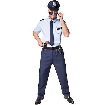 Herrenkostüm Police Officer Halloween Kostüm Karneval Fasching Mann - Halloween Herren
