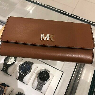 Michael Kors Women Leather Card id Holder Wallet Clutch Purse Handbag Phone Bag