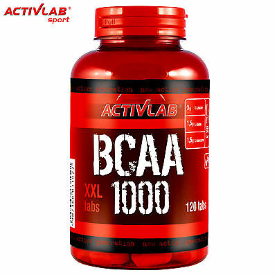 Activlab Bcaa 1000 Xxl Branched Chain Amino Acid 120tabs. Muscle Growth Free P&p