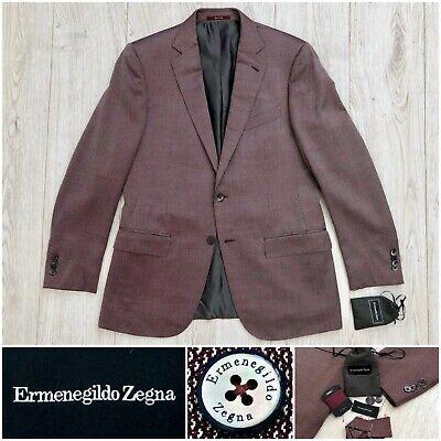 2015 $3195 Ermenegildo Zegna Red Wool & Silk Milano Cut Jacket, 40R 50R 38R