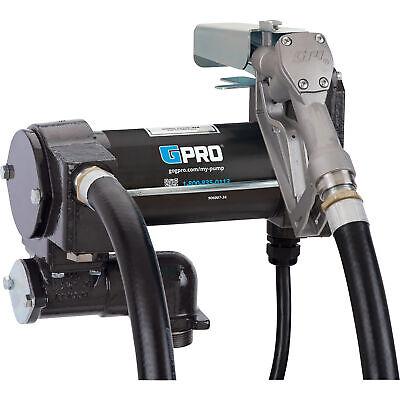Gpi Fuel Transfer Pump With Manual Nozzle 25 Gpm 12v Dc Manual Nozzle