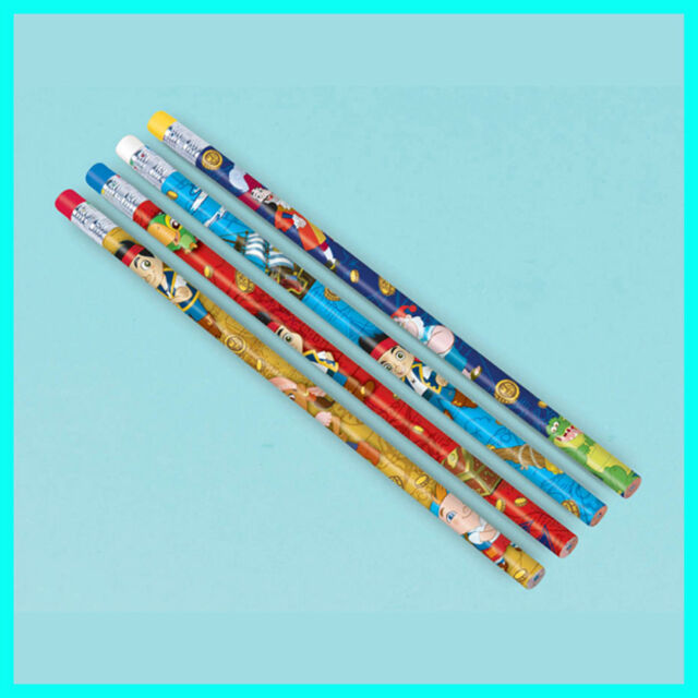 Jake and the Neverland Pirates Pencils x 12 - Birthday Favours/Christmas/Gifts