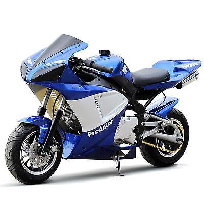 DONGFANG 110 Bullet-Ant Pocket Bike 4-Storke Air-Cooled Super Bike Blue