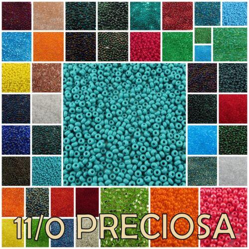 11/0 Preciosa Czech Round Seed Beads #50100-97090