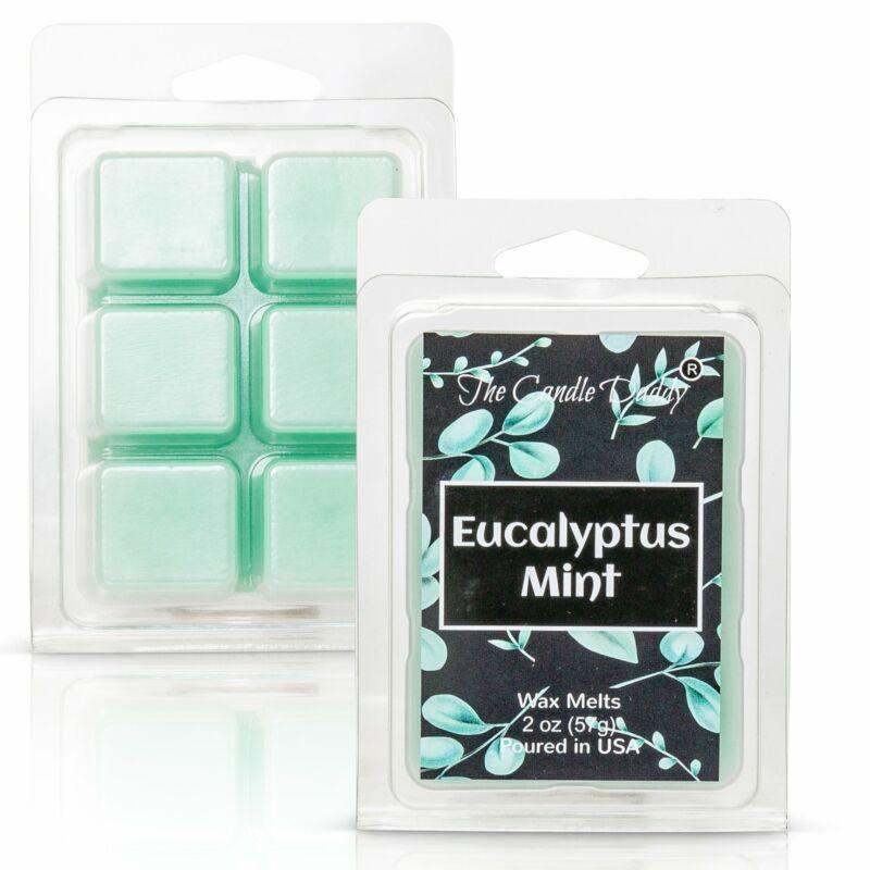 Eucalyptus Mint -  Refreshing Mint Eucalyptus Scented Melt- Maximum Scent Wax Cu