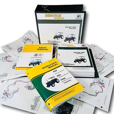 Service Manual Set For John Deere 850 950 1050 Tractor Parts Operators Catalog