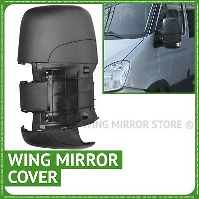 Left passenger side wing door mirror cover black case for Iveco Daily 2006 2011