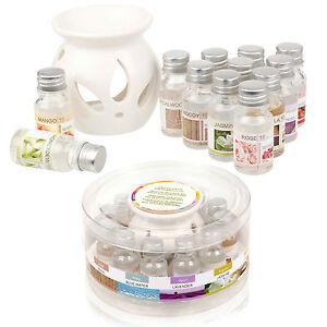 Ceramic Oil Burner & 12 Scents Tea Light Fragrance Tart Aromatherapy Scents Home