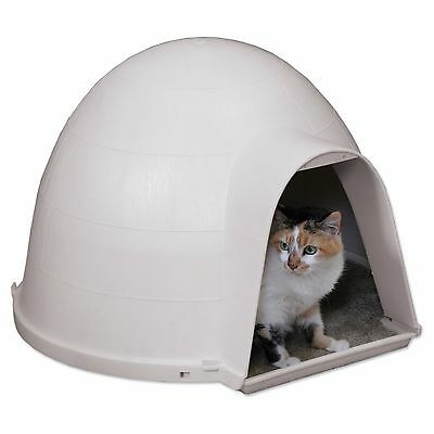 Igloo Cat Condo House Cave Shelter Bed Foam Insulated Outdoor Protection Pet New