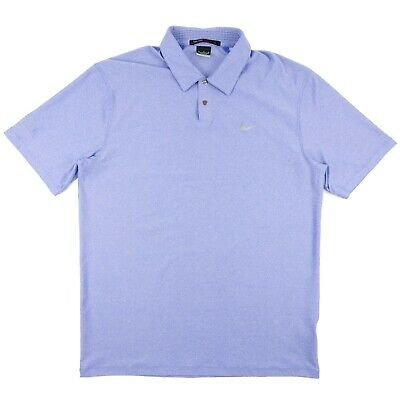 Nike Tiger Woods Collection Dri-Fit Golf Polo Vented Collar Light Blue Men's M
