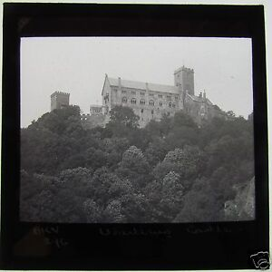 Glass-Magic-Lantern-Slide-WARTBURG-CASTLE-C1900-GERMANY