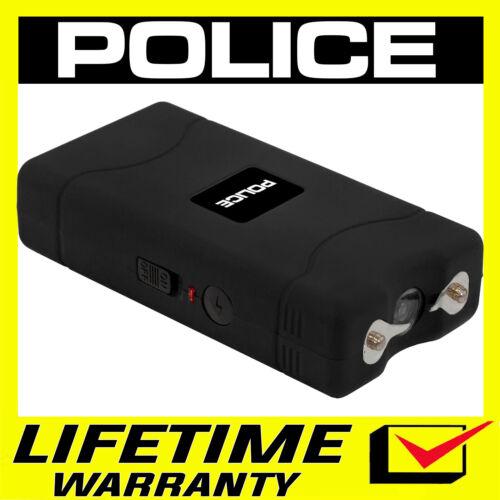POLICE Stun Gun 800 380 BV Mini Rechargeable With LED Flashlight - Black