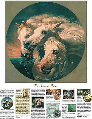 Pharaoh's Arabian Horses Color Print JF Herring on heavy paper w/history trivia