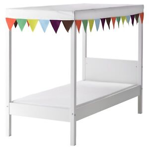 IKEA kids canopy bed with slatted base