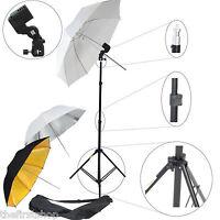Kit Dynasun W969 Stativo, Portalampada, 3x Ombrello X Illuminatore Flash Studio -  - ebay.it