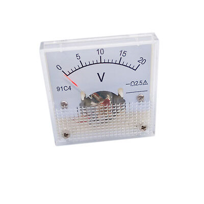 Us Stock Dc 0 20v Square Analog Volt Pointer Needle Panel Meter Voltmeter 91c4