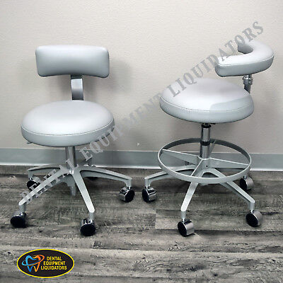 Dental Stools Set Of 2 Stools - A-dec 1620 Assistants A-dec 1600 Doctors