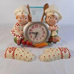 Vintage 1990 Campbells Soup Kids Kitchen Wall Clock w/ Mits New Haven Quartz USA