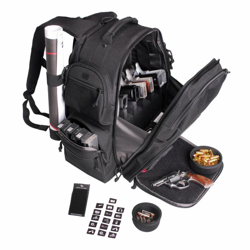 G-Outdoors GPS Executive Inner Foam Cradle Backpack Range Bag Black 1812BPB