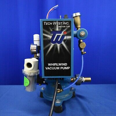 Tech West Dental Whirlwind Liquid Wet Ring Single Vacuum Pump 4 User Vpl4s2