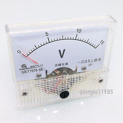 Us Stock Analog Panel Volt Voltage Meter Voltmeter Gauge 85c1 0-15v Dc