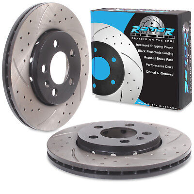 REAR DRILLED GROOVED 290mm BRAKE DISCS FOR SUBARU IMPREZA NEWAGE 2.0 WRX STI 02+