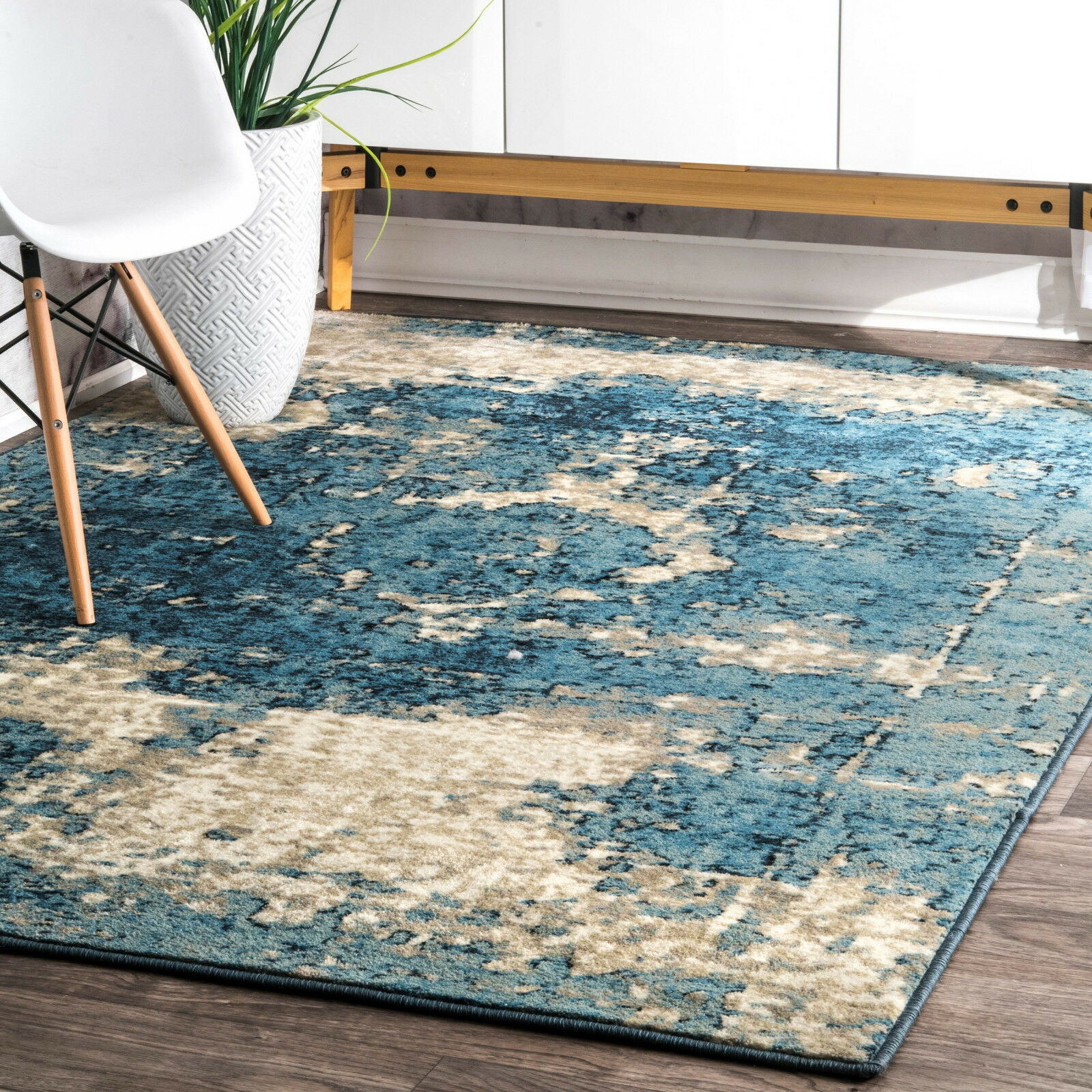 Traditional Rug Distressed Shabby Carpet Small Extra Large B