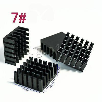 Us Stock 10pcs 22 X 22 X 10mm Heat Sink Cooling Aluminum Heatsink Cpu Ic Led