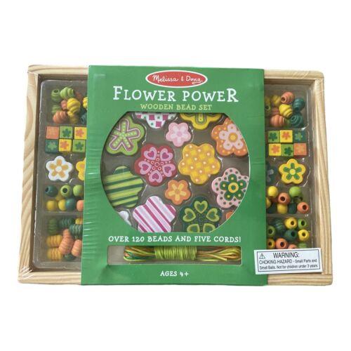 Melissa & Doug Flower Power Wooden Bead Set NIP