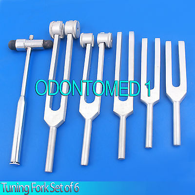 Tuning Fork Set Of 6 - Medical Surgical Diagnostic Instruments Free Buck Hammer