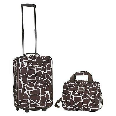 Rockland Rio 2pc Carry On Luggage Set - Giraffe