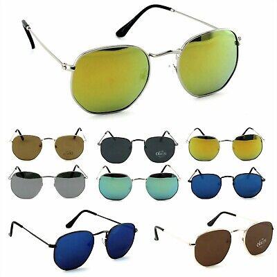 Damen Herren Panto Sonnenbrille Nickelbrille Lennon Eckig Oval Retro Rennec PTO